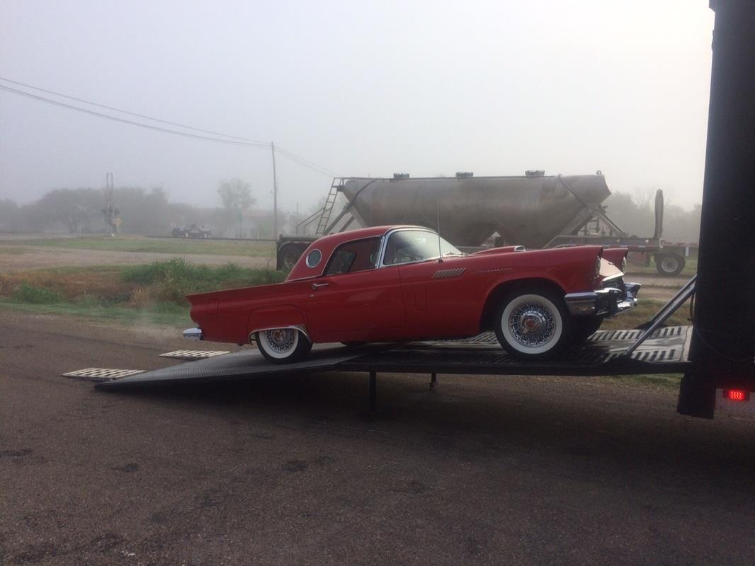 1957 Ford Thunderbird Enclosed Carrier