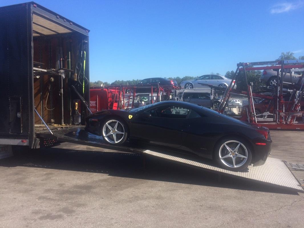 Ferrari 458 Italia Enclosed Shipping