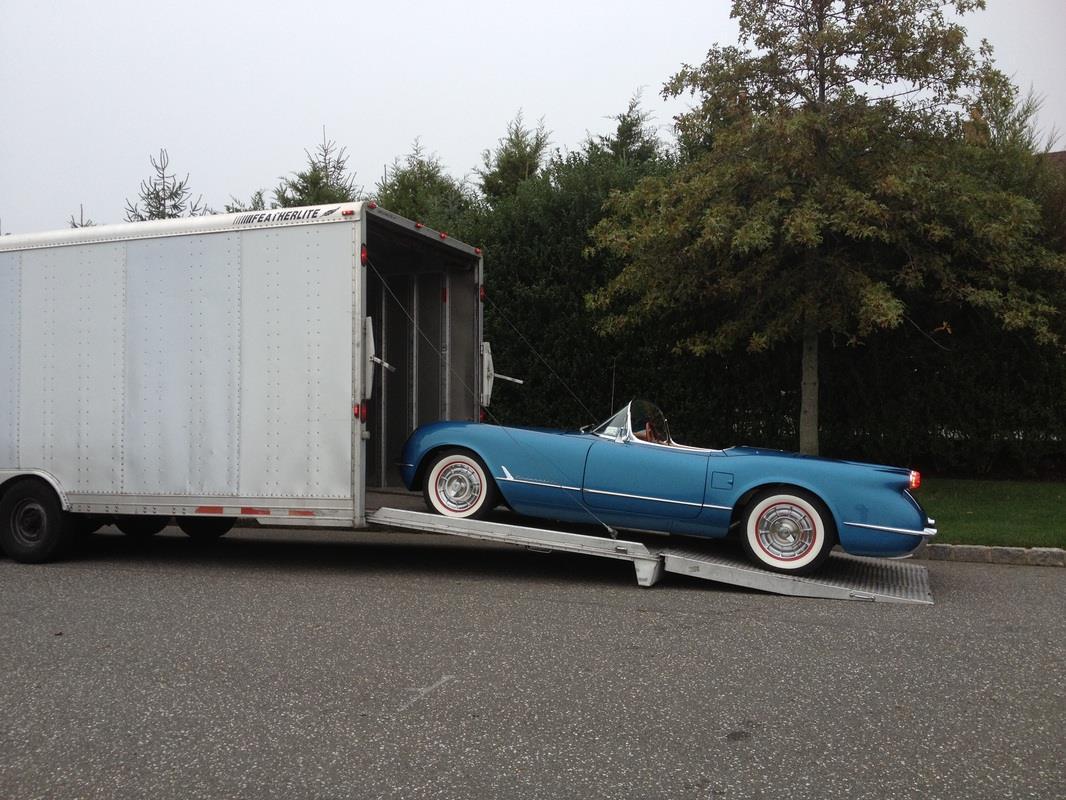 1954 Chevy Corvette Enclosed Transport