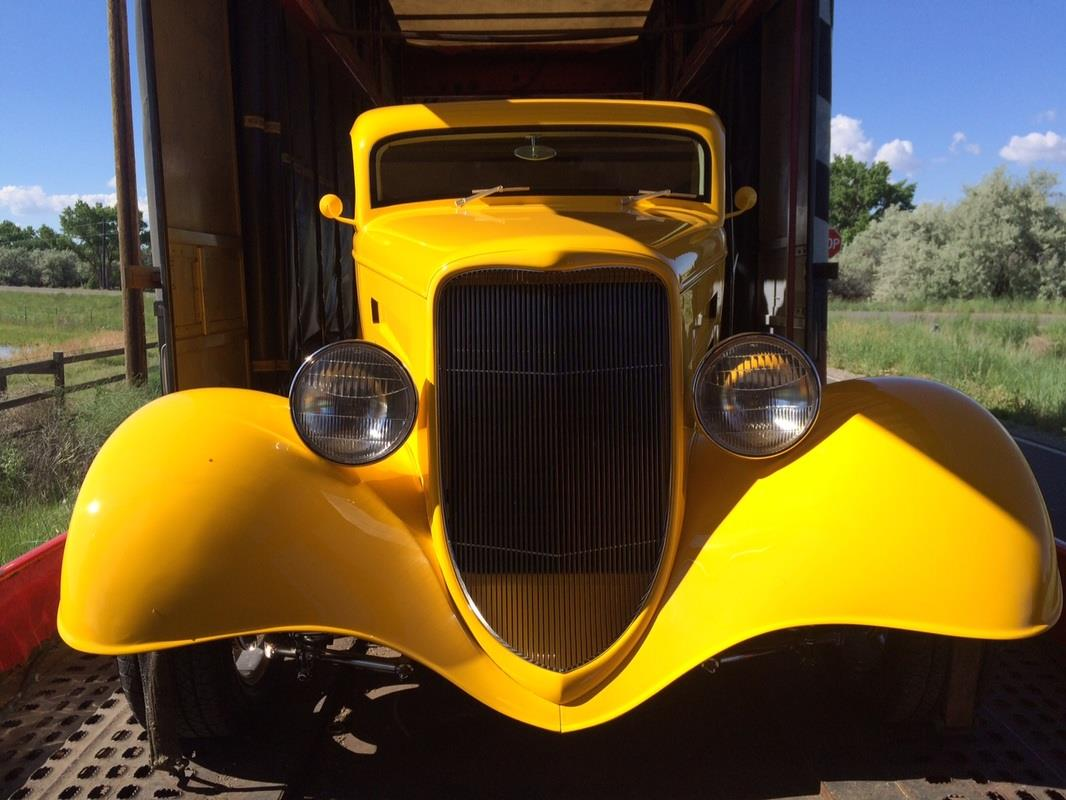 30s Ford Custom Coupe Enclosed Shipper