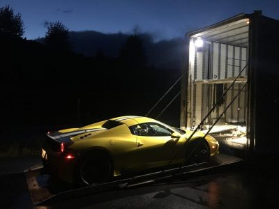 Ferrari Loading Enclosed Liftgate Transport