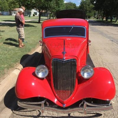 1934 Ford Custom Coupe Delivery Enclosed Transport