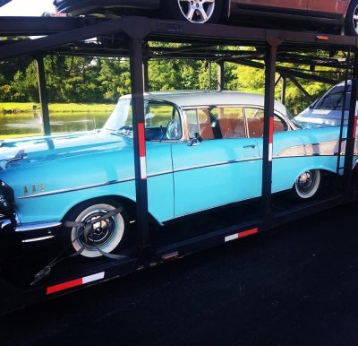 Classic 1957 Chevy Bel Air Fountain Transport Services