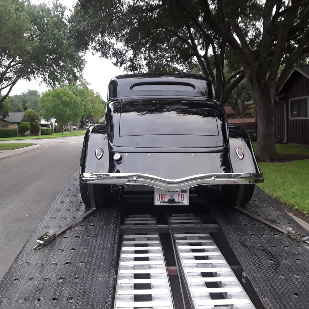 1934 Ford Coupe Classic Car Dealer Open Trailer