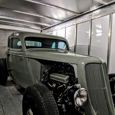1936 Plymouth Coupe Enclosed Trailer